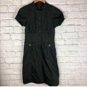 Hugo Boss Black Button Shirt Dress